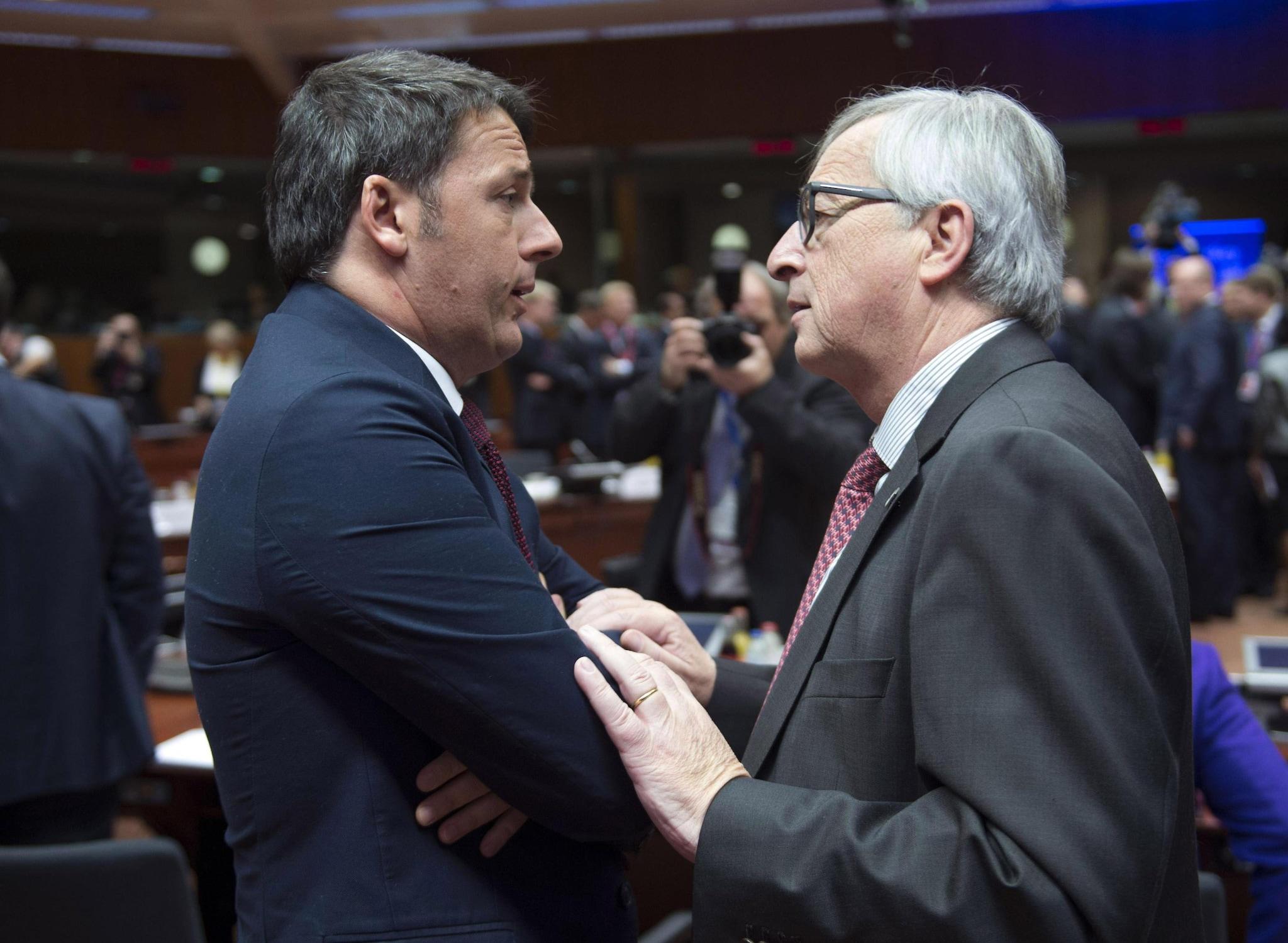 Juncker a Renzi: Italia attacca Ue a torto, così non otterrà risultati