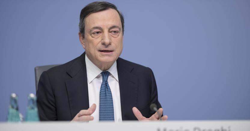 Il presidente della Banca centrale europea, Mario Draghi (Imagoeconomica)