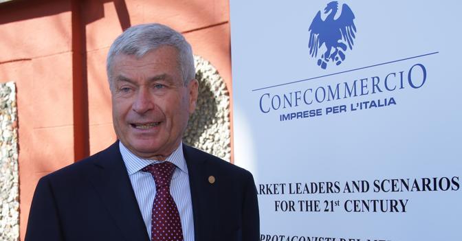 Presidente di Confcommercio Carlo Sangalli