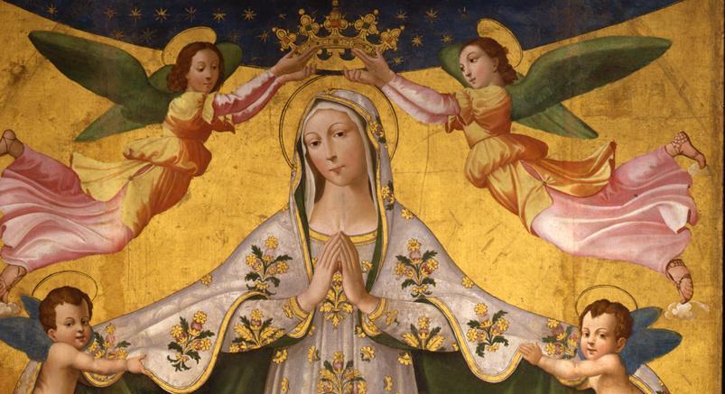 «Madonna dei Raccomandati», Maestro del Trittico di Chia, 1500-1503, tempera su tavola a fondo oro, cm 197x166,5
