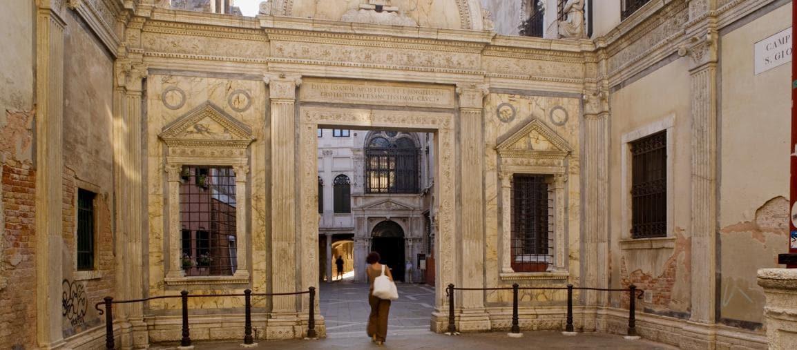 Entrata della Scuola Grande di San Giovanni Evangelista a Venezia (Marka)