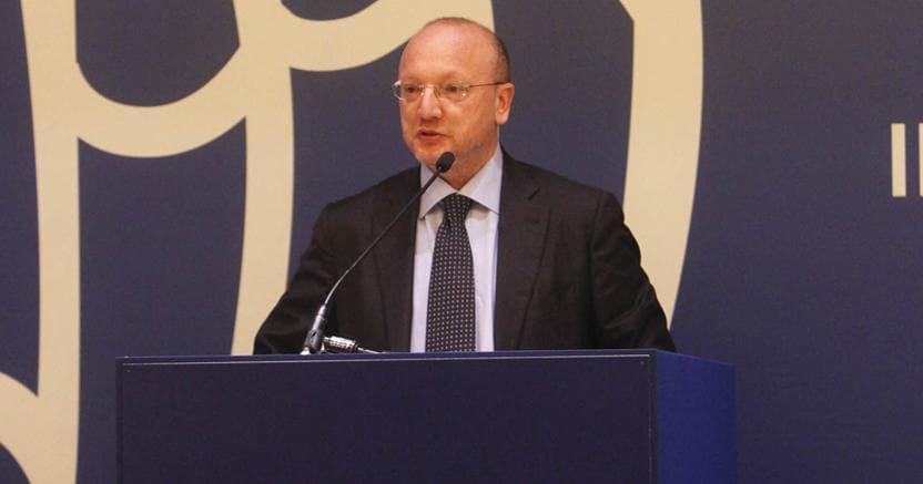 Il presidente di Confindustria Vincenzo Boccia questa mattina a Milano Marittima