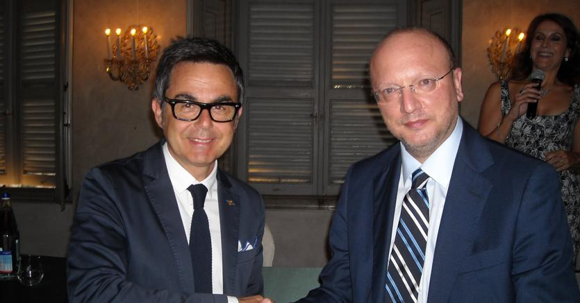 Vincenzo Boccia (dx) e Giampietro Melchiorri