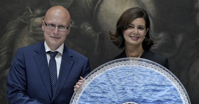 Cerimonia del Ventaglio: Laura Boldrini e Sergio Amici