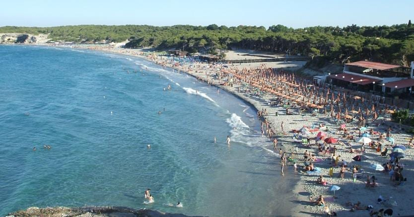 La spiaggia di Torre dell'Orso