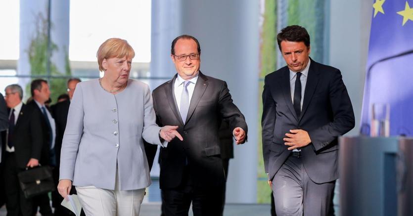 Domenica vertice fra Renzi, Merkel ed Hollande a Napoli