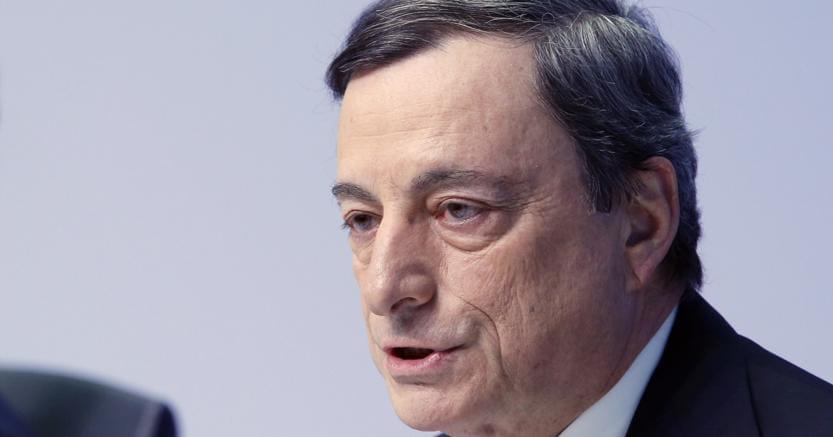 Il presidente della Bce, Mario Draghi (Afp)