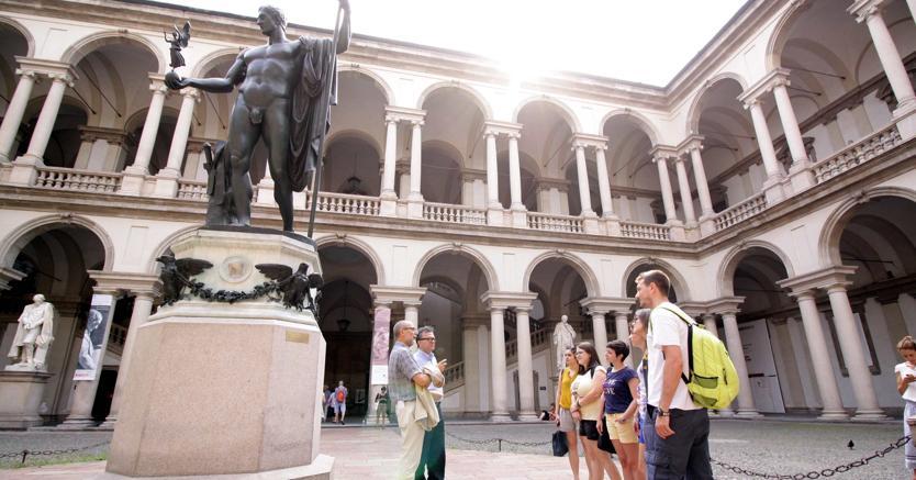 Accademia di Brera, Milano. (Fotogramma)