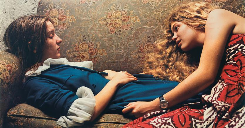 Untitled, 1974 (Karen Chatham, left, with the artist's cousin Lesa Aldridge, in Memphis, Tennessee), William Eggleston, 1974, Wilson Centre for Photography