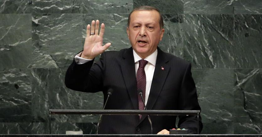 Il presidente turco Erdogan alle Nazioni Unite