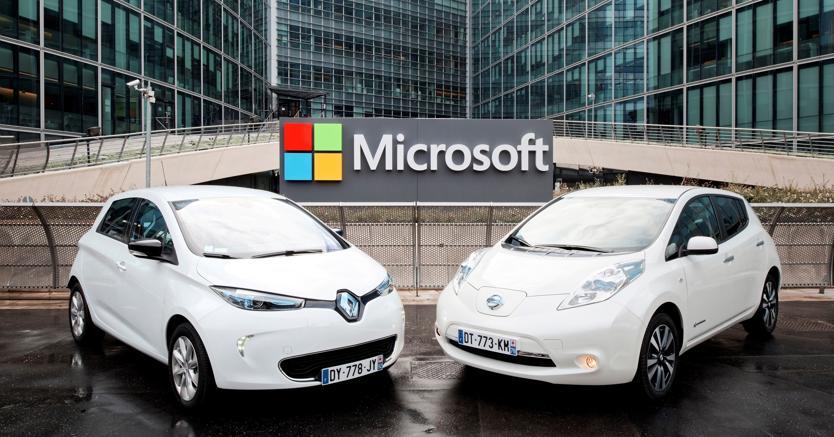Renault-Nissan, accordo con Microsoft su servizi connessi