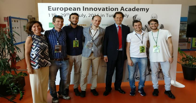"I vincitori del nostro programma ""Innovation for change""-AquaSmart e Demetra, insieme ad un'altra start-up della famiglia SAFM- Wound viewer, stanno partecipando all'edizione torinese della European Innovation Academy"