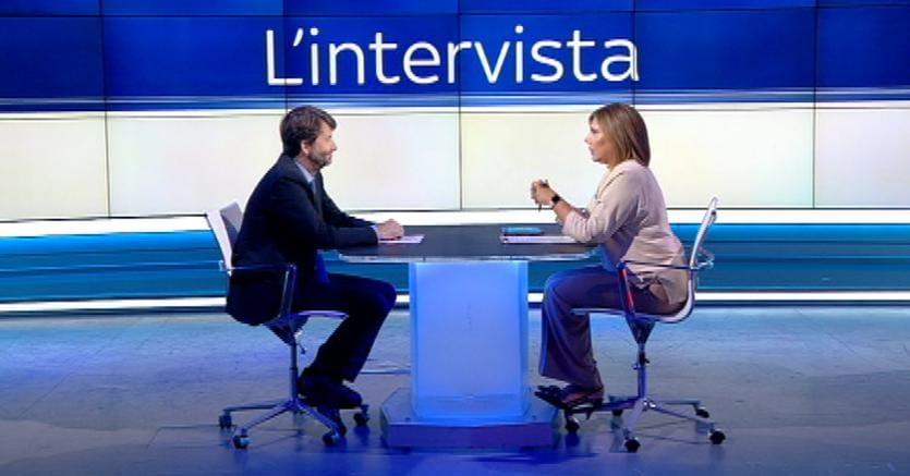 """Dario Franceschini, a """"L'Intervista"""" di Maria Latella su Sky Tg24"""