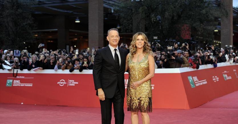 Tom Hanks con la moglie Rita Wilson
