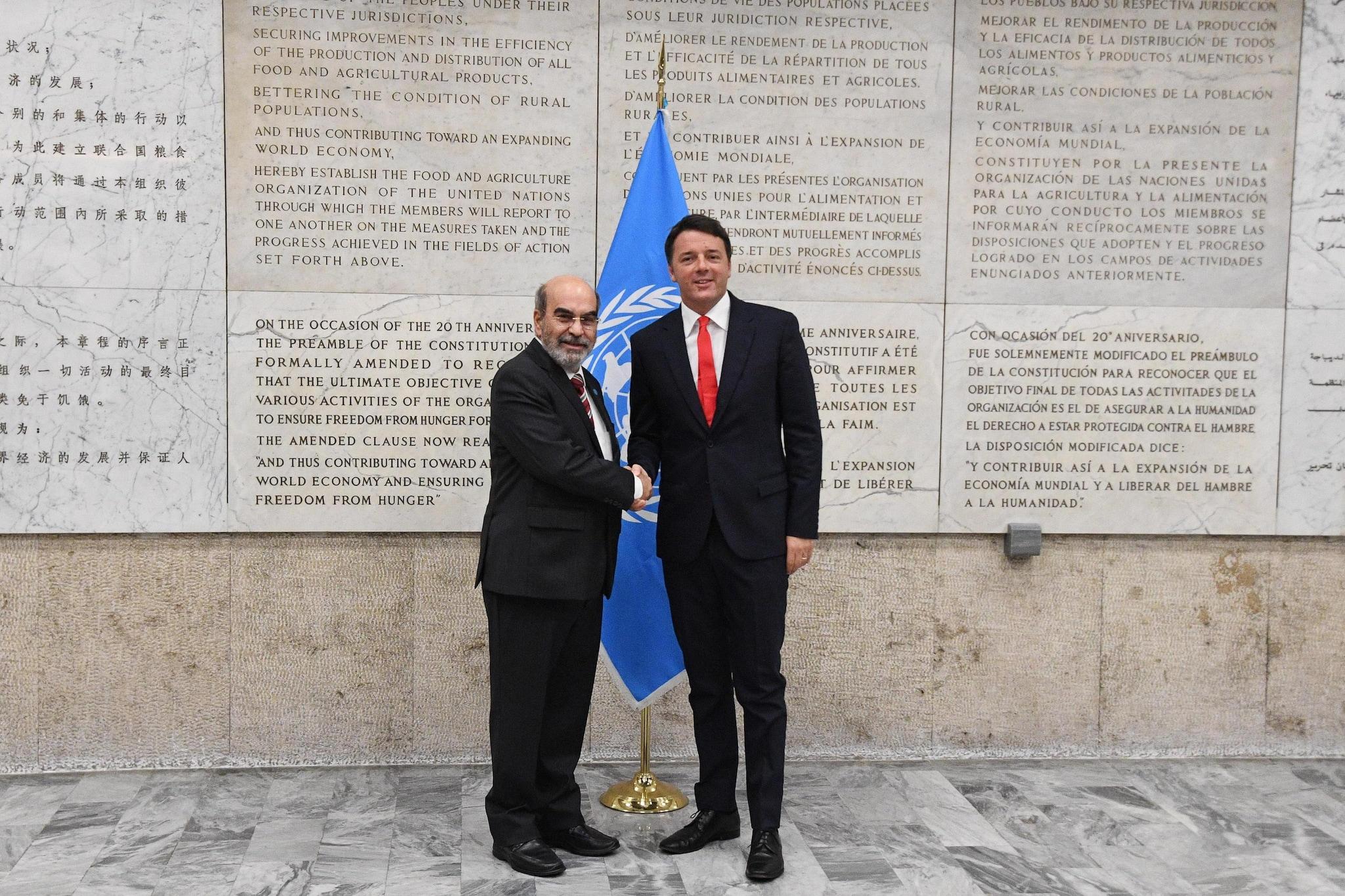 Renzi: dal 2017 raddoppieremo lotta a spreco alimentare