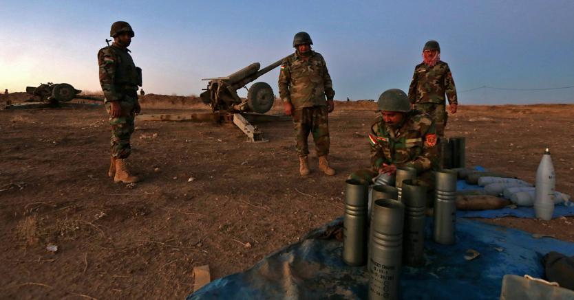 Peshmerga curdi-iracheni si preparano alla battaglia di Mosul (Afp)