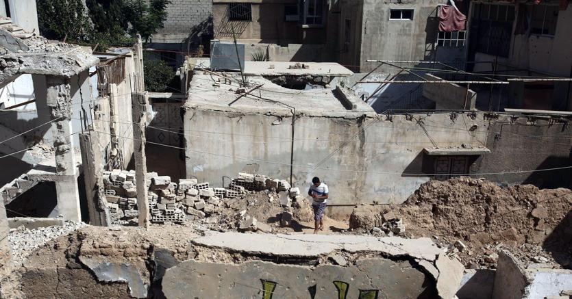 Un'area controllata dai ribelli nei dintorni di Damasco