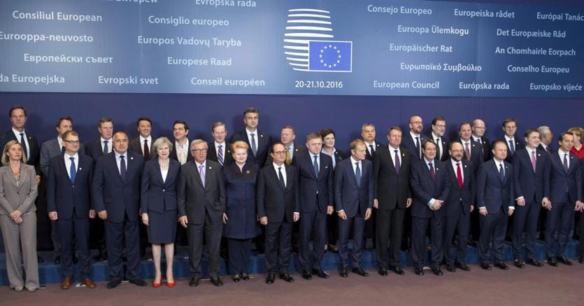 Consiglio Ue a Bruxelles, 20 ottobre 2016 (Ansa)