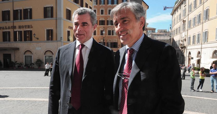 Mauro Moretti e Giovanni Castellucci (Imago)