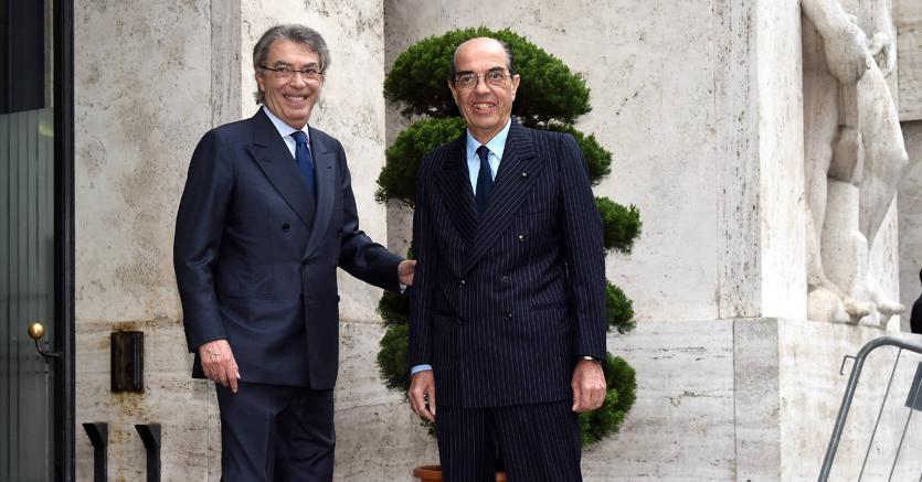 Massimo e Gianmarco  Moratti (Fotogramma)