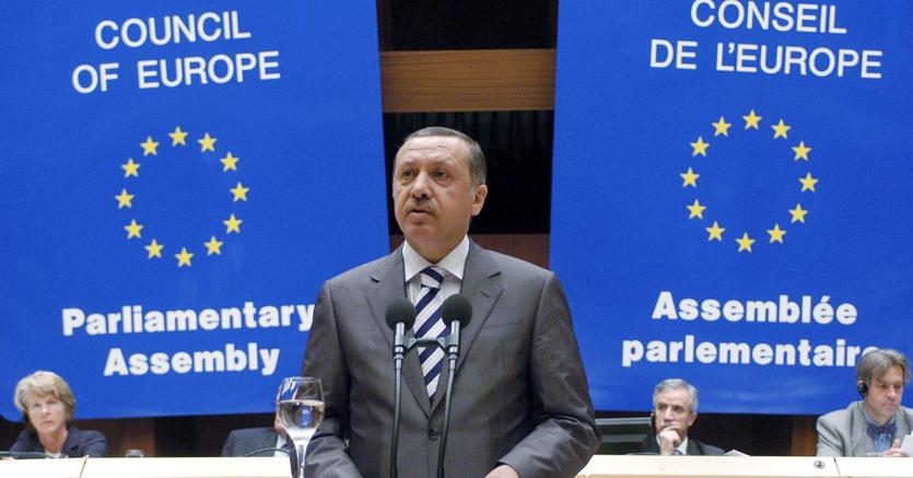 Recep Tayyip Erdogan. ANSA/Council of Europe /KLD