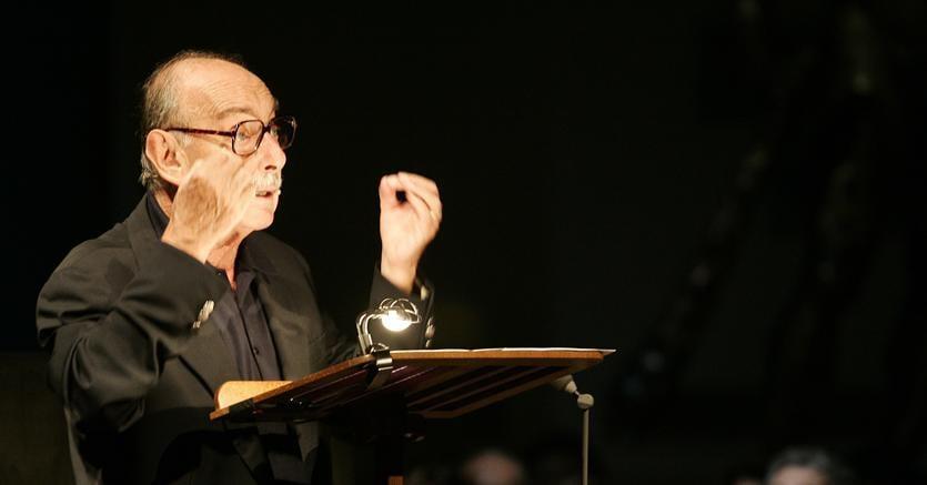 Vittorio Sermonti (foto Ansa / Danilo Schiavella/drn)