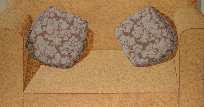 Domenico Gnoli - Sofa - 1968 acrilico e sabbia su tela - cm 131x171 - € 1.500.000 - 2.000.000