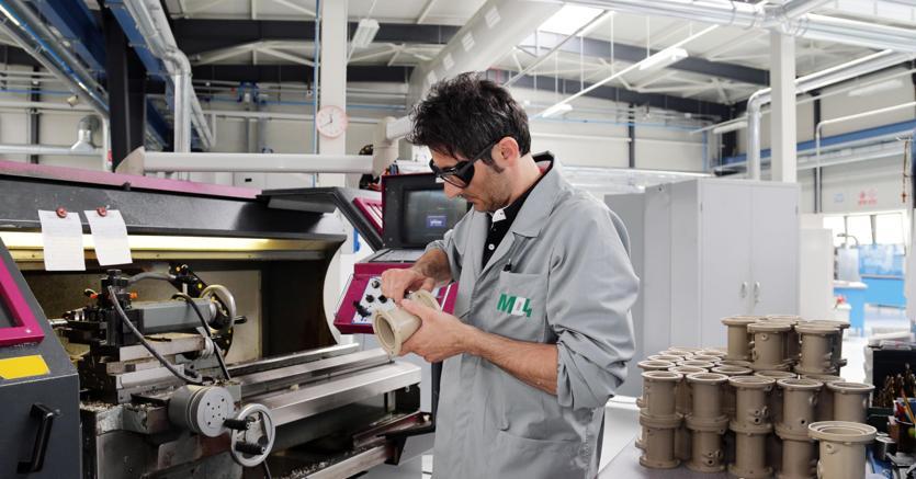 Ferma l'industria italiana a ottobre, +1,3% su anno