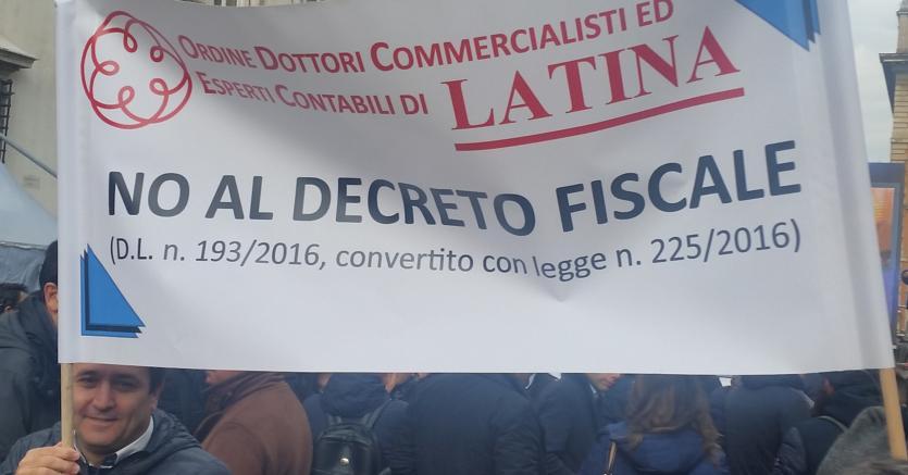 La manifestazione dei commercialisti a Roma