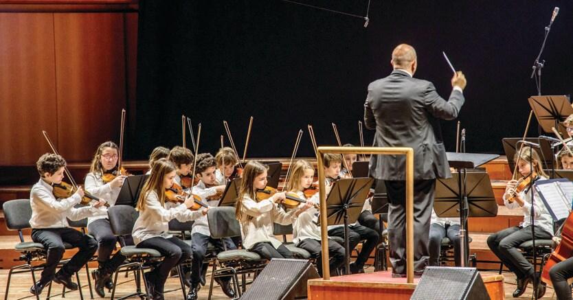 Musica e arte.La JuniOrchestra Kids dell'Accademia di Santa Cecilia, diretta da Simone Genuini, ha introdotto i lavori degli Stati Generali della Cultura