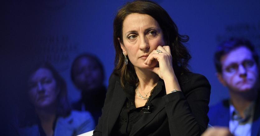 Carla Ruocco durante il Forum di Davos (Epa)