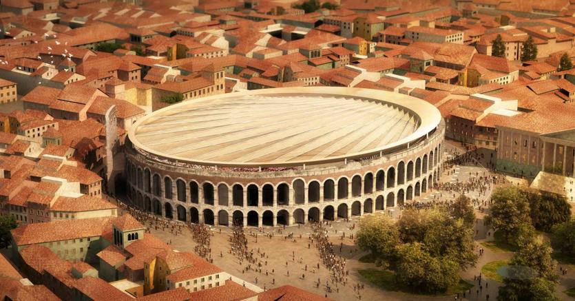 Ecco la copertura per l'Arena di Verona