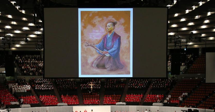 La cerimonia di beatificazione del Samurai Ukon Takayama (Afp)
