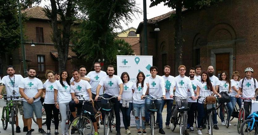 """La squadra al completo della start up siciliana """"Pharmap""""  attiva  a Milano"""