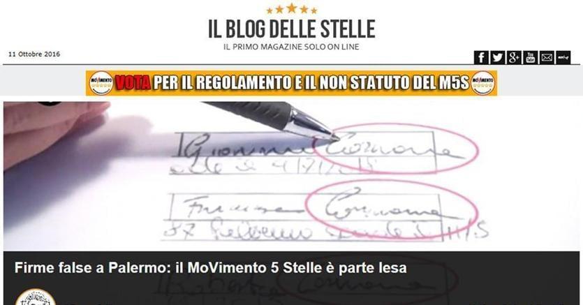 M5S: chiusa indagine firme false Palermo