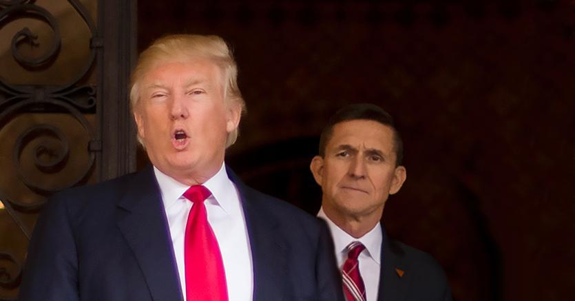 Donald Trump con Michael Flynn (Afp)