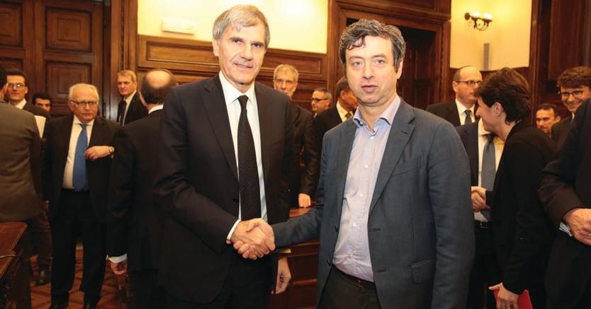 Con il Guardasigilli.Massimo Miani e Andrea Orlando