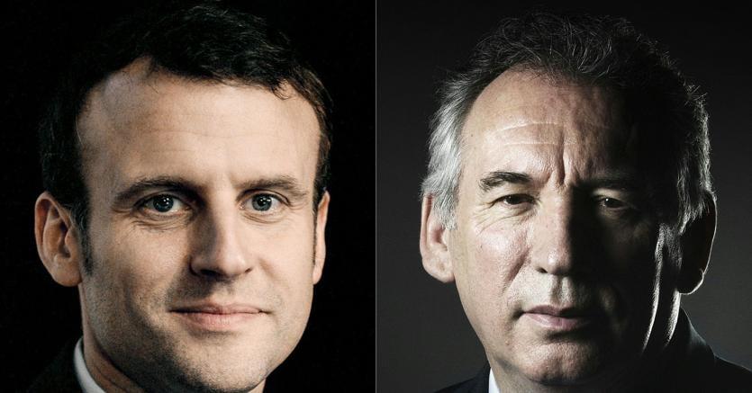 Emmanuel Macron e François Bayrou (Afp)