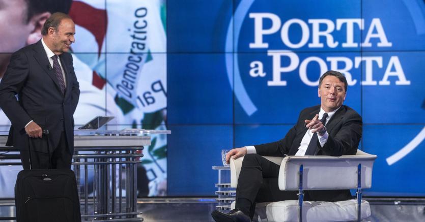 Matteo Renzi ospite di Bruno Vespa a Porta a Porta