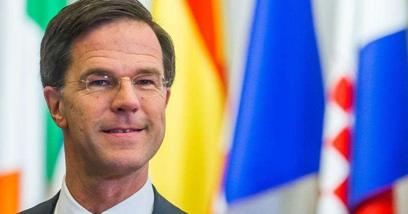 Il primo ministro olandese  Mark Rutte (ANSA/STEPHANIE LECOCQ)
