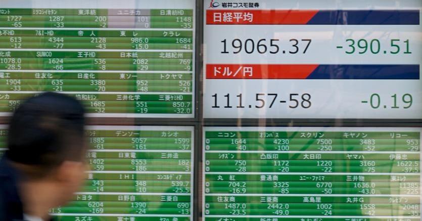 Borse, rimbalza Tokyo: il Nikkei sale dello 0,2%