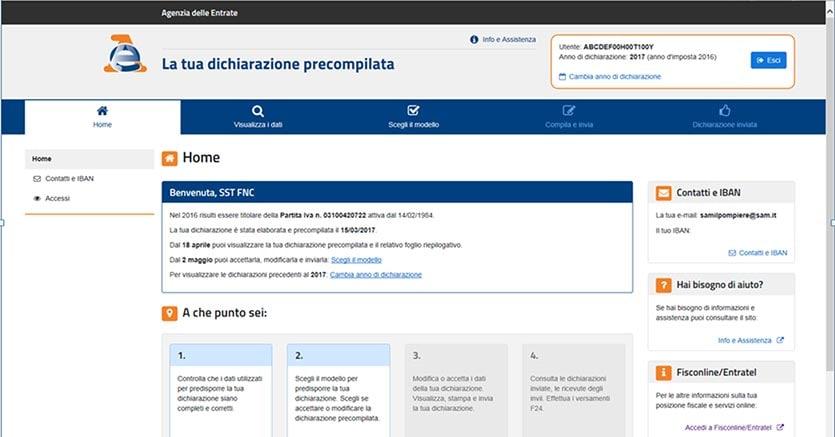 Precompilata online 30 milioni di dichiarazioni dei for 730 precompilato accedi