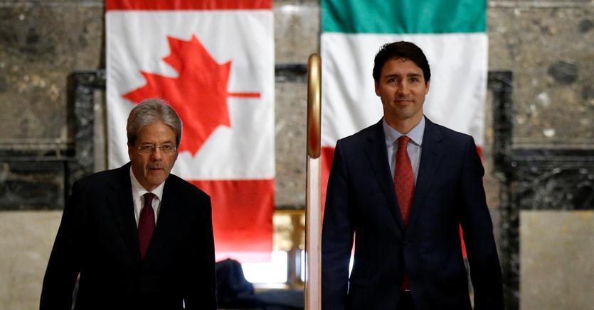 Gentiloni a colloquio con Trudeau