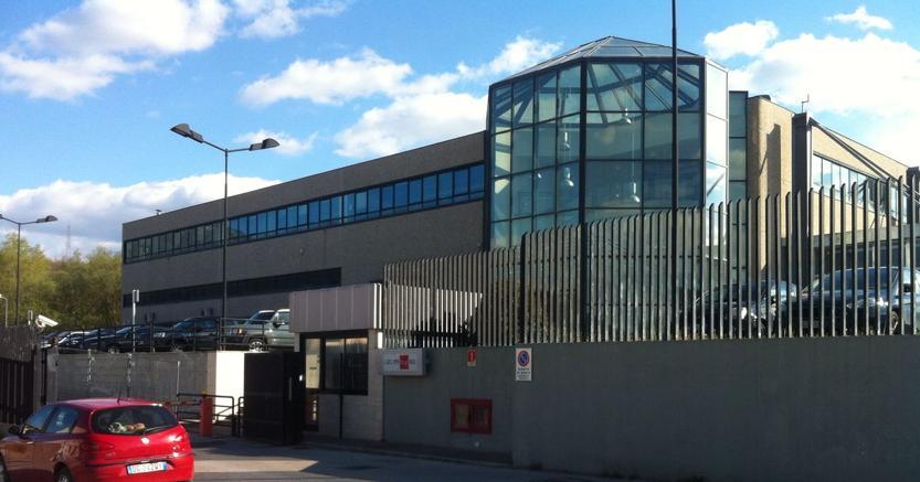 Lo stabilimento del Sole24Ore a Carsoli, che ha ospitato gli studenti del liceo della città abruzzese