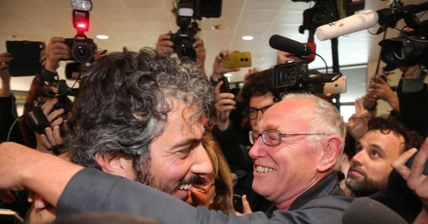 Gabriele Del Grande appena rientrato in Italia (Ansa)