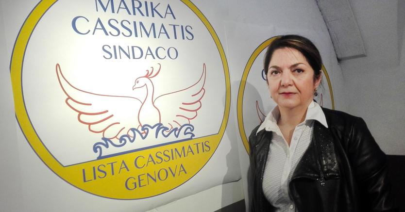 Marika Cassimatis a Genova presenta la sua lista (Ansa)