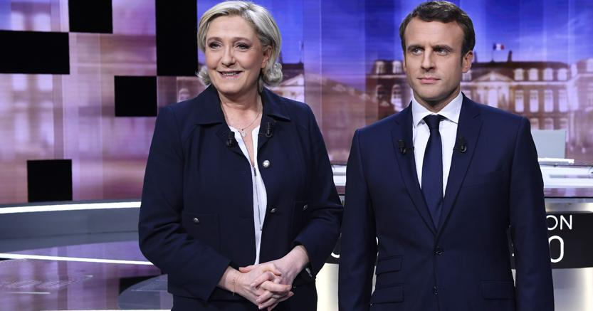 Il confronto tv fra Marine Le Pen ed Emmanuel Macron (AP)