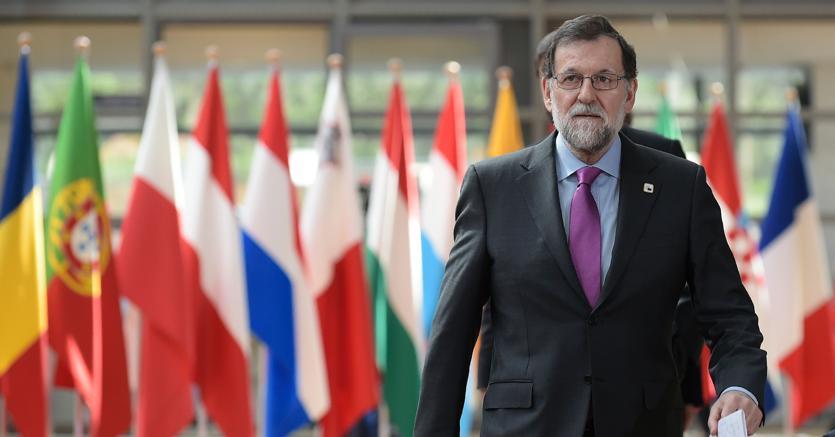 Il premier spagnolo Mariano Rajoy arriva al vertice Ue di fine aprile a Bruxelles