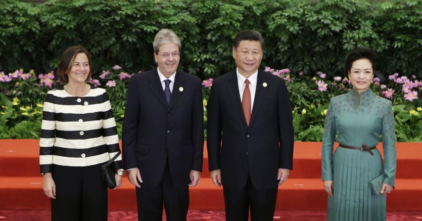 Il premier Gentiloni con il presidente cinese Xi Jinping