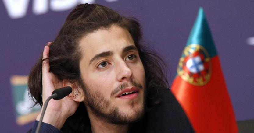 Salvador Sobral, cantante portoghese, ha vinto il 62° Eurovision Song Contest a Kiev (Epa)